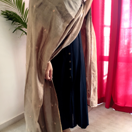 Brown Art Silk Dupatta