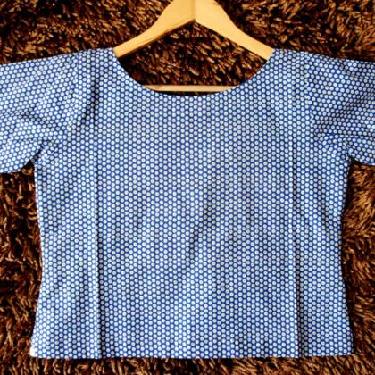 Blue Green Dots Crop Top