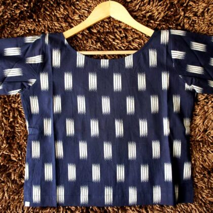 Navy Blue Crop Top